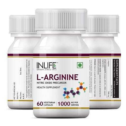 Picture of INLIFE- L-Arginine 1000mg 60 Caps