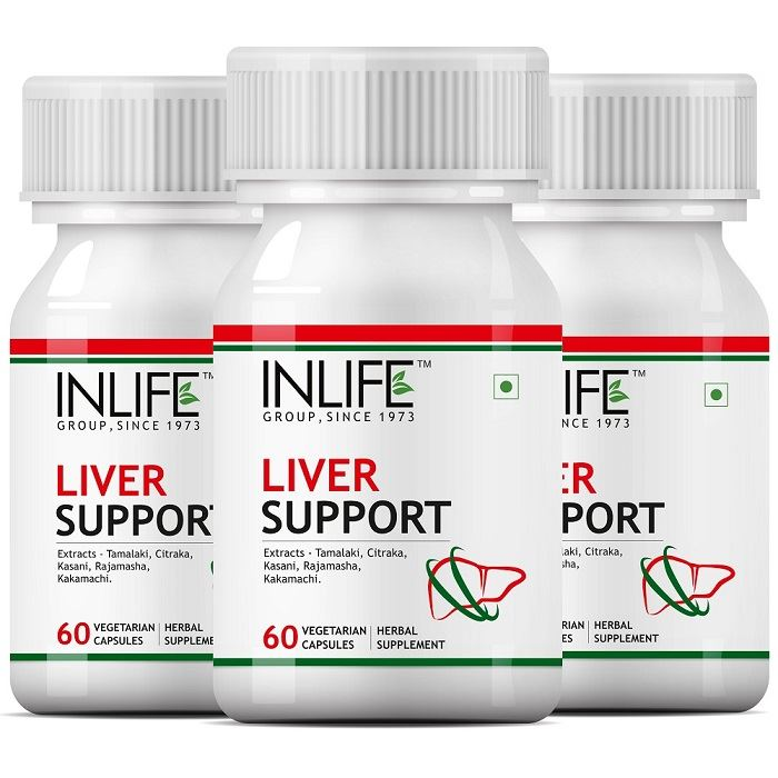 Picture of INLIFE- Liver Care-Cleanse Support Active 500 mg 60 Veg Caps