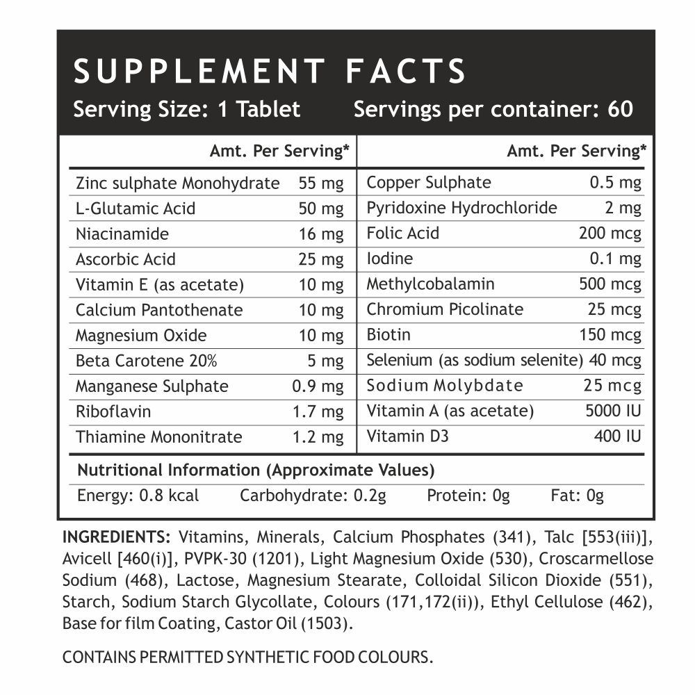 Picture of INLIFE- Multivitamin & Multiminerals With Biotin 60 Tabs