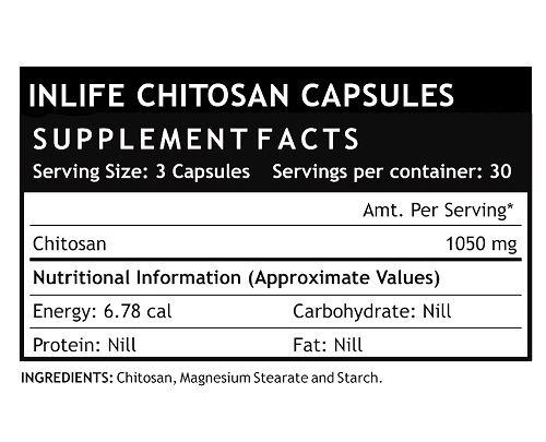 Picture of INLIFE- Natural Chitosan 350 mg 90 Caps