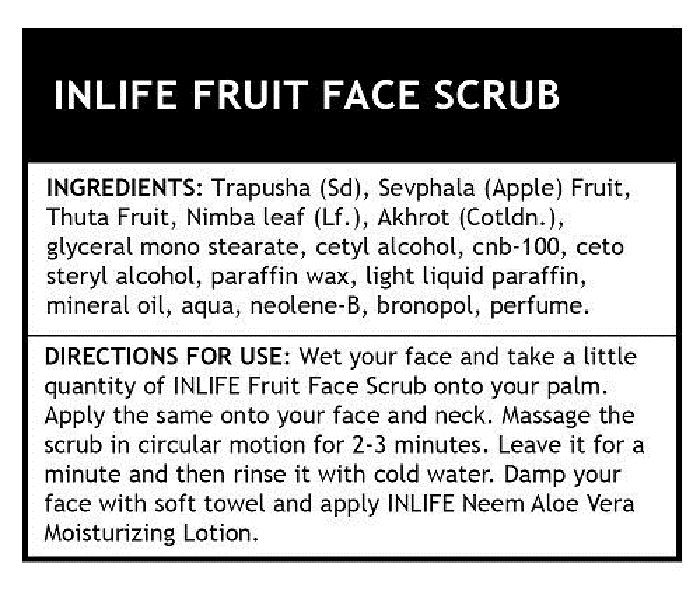 Picture of INLIFE- Natural Fruit Face Scrub Paraben Free 100 gm