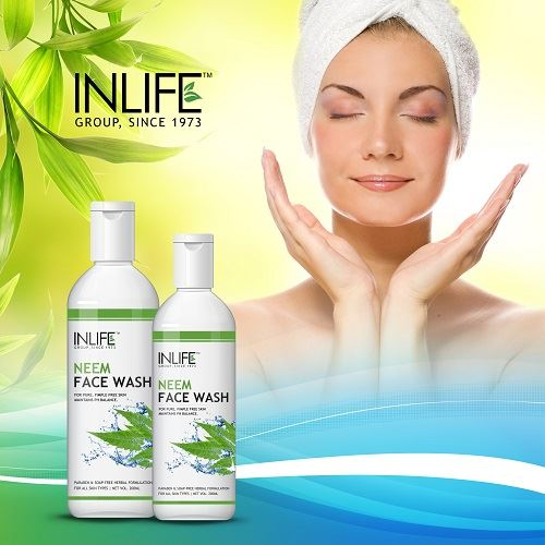 Picture of INLIFE- Natural Neem Face Wash 200 ml Soap Paraben Free