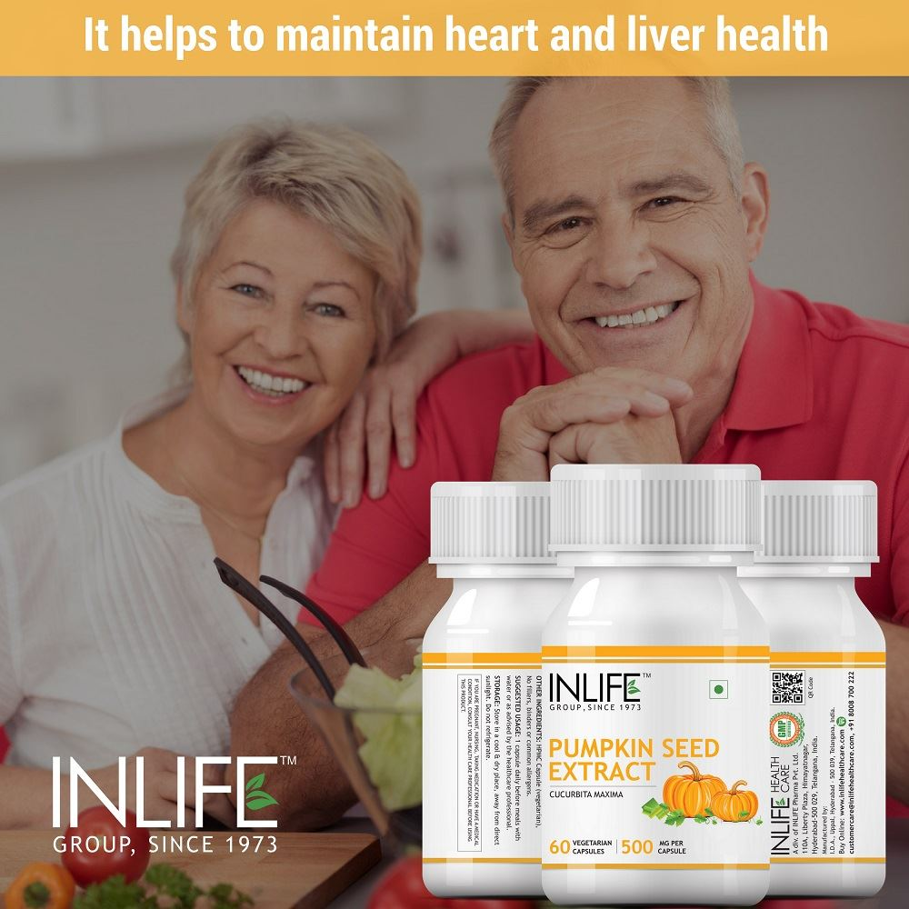 Picture of INLIFE- Pumpkin Seed Extract Supplement 500 mg 60 Veg Caps