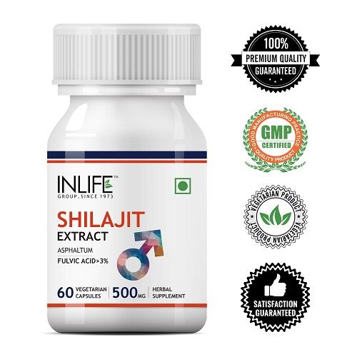 Picture of INLIFE- Shilajit Extract 500mg 60 Caps
