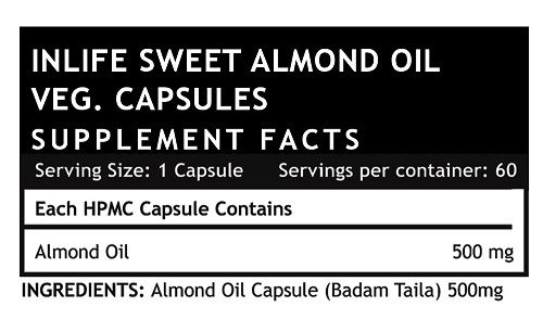 Picture of INLIFE- Sweet Almond ExtraVirgin Cold Pressed Oil 60 Veg Cap
