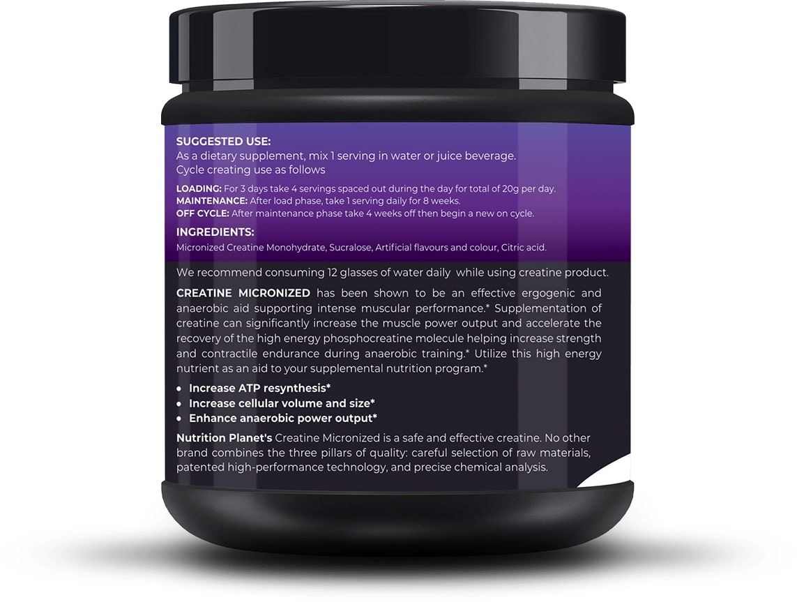 Picture of Nutrition Planet - Micronized Creatine Black Currant 348g
