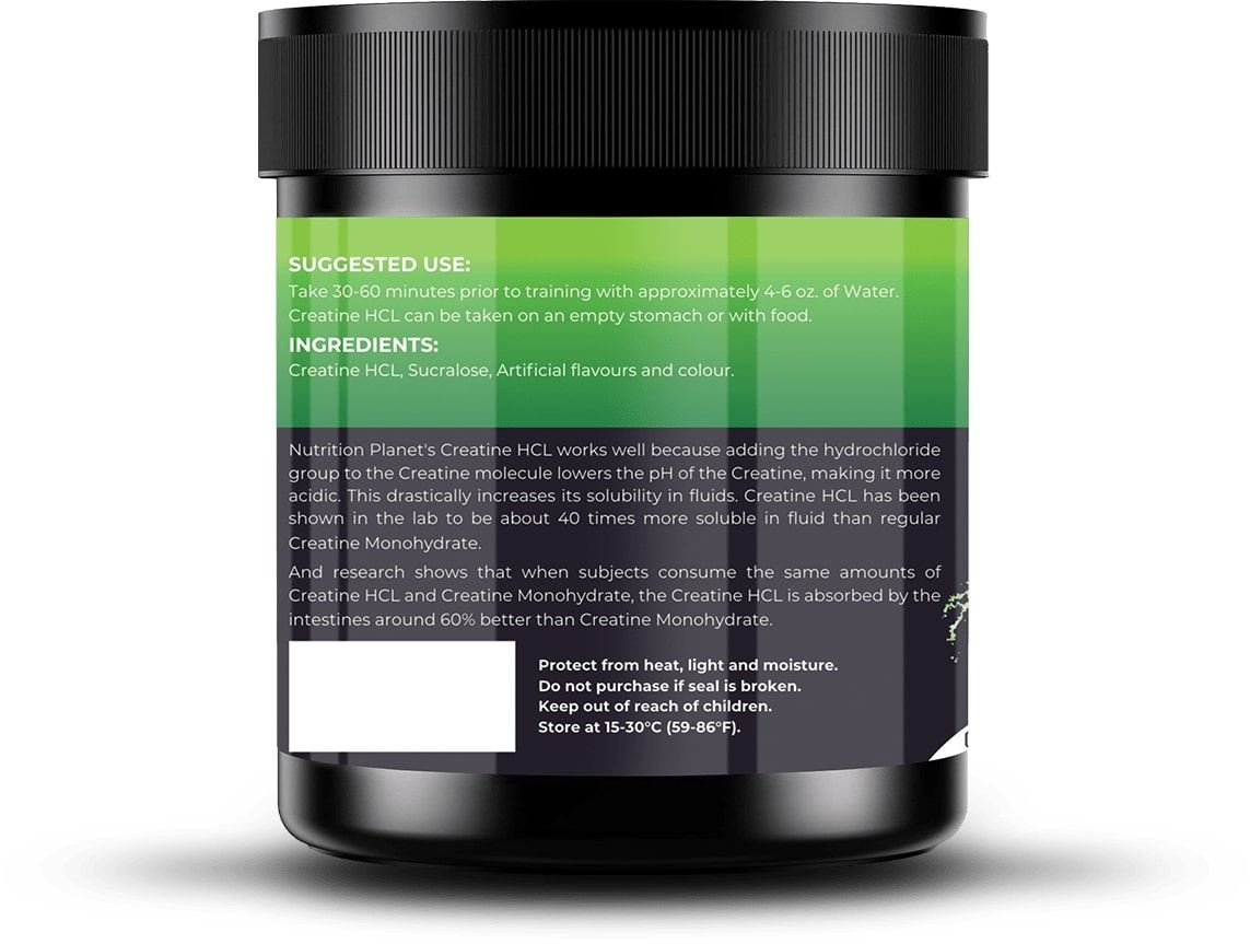 Picture of Nutrition Planet - Creatine HCL Green Apple 110g