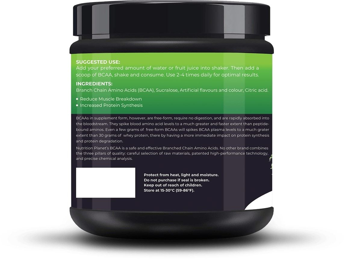 Picture of Nutrition Planet - BCAA Green Apple 348g