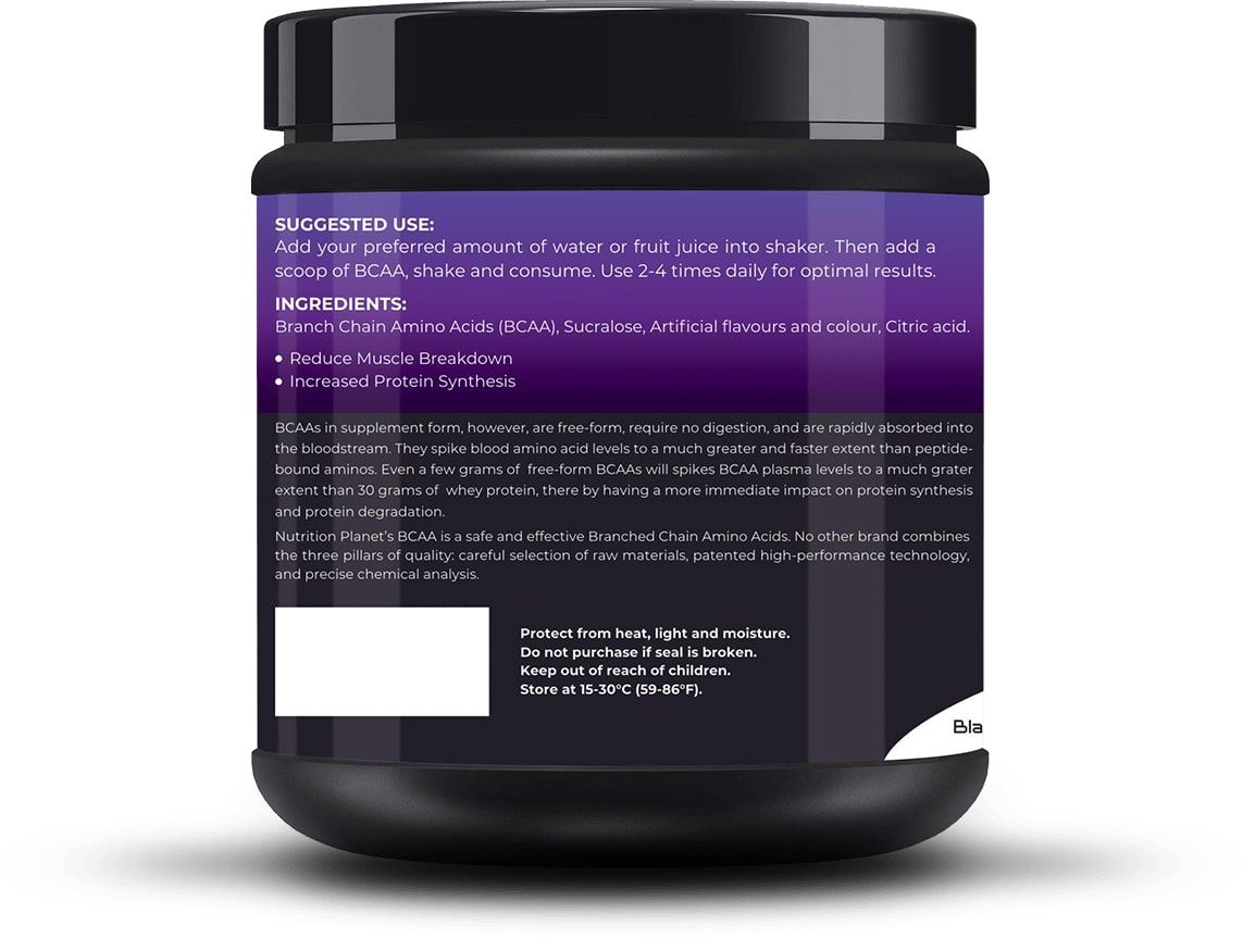 Picture of Nutrition Planet - BCAA Black Currant 348g