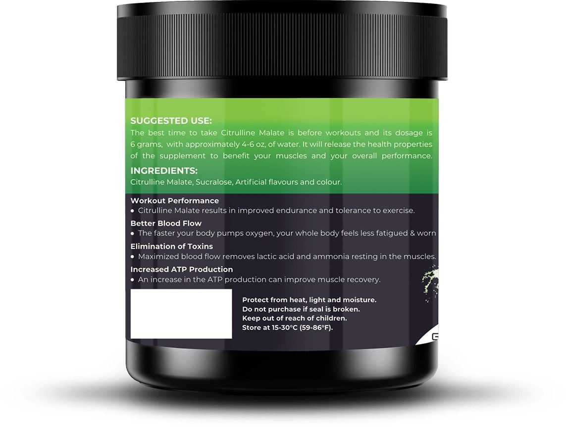Picture of Nutrition Planet - Citrulline Malate Green Apple 100g