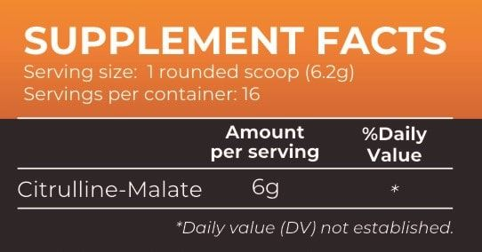 Picture of Nutrition Planet - Citrulline Malate Orange 100g