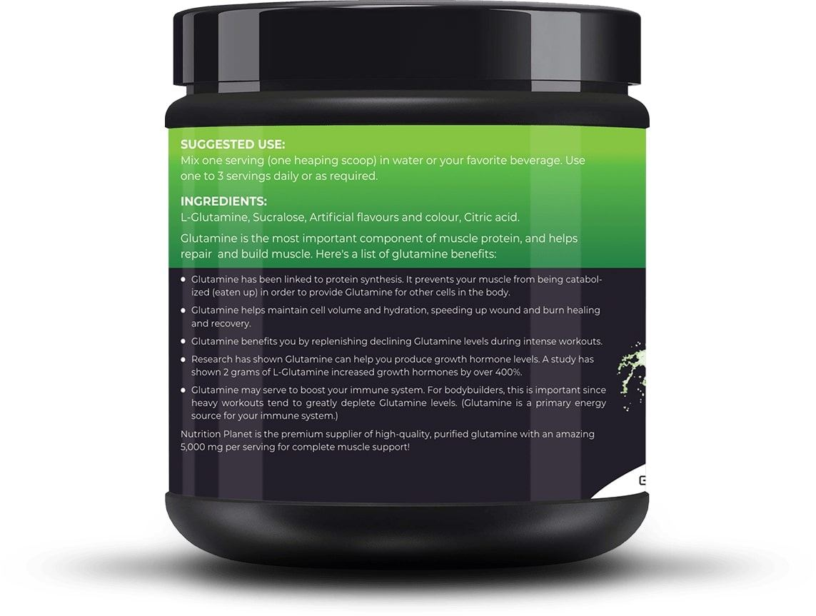 Picture of Nutrition Planet - Glutamine Green Apple 348g