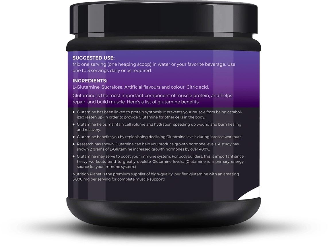 Picture of Nutrition Planet - Glutamine Black Currant 348g