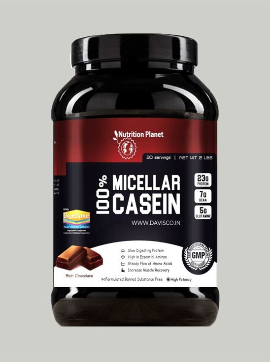 Picture of Nutrition Planet - 100% Micellar Casein Chocolate 2lbs
