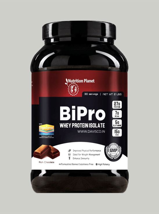 Picture of Nutrition Planet - BiPro Whey Protein Isolate Chocolate 2lbs