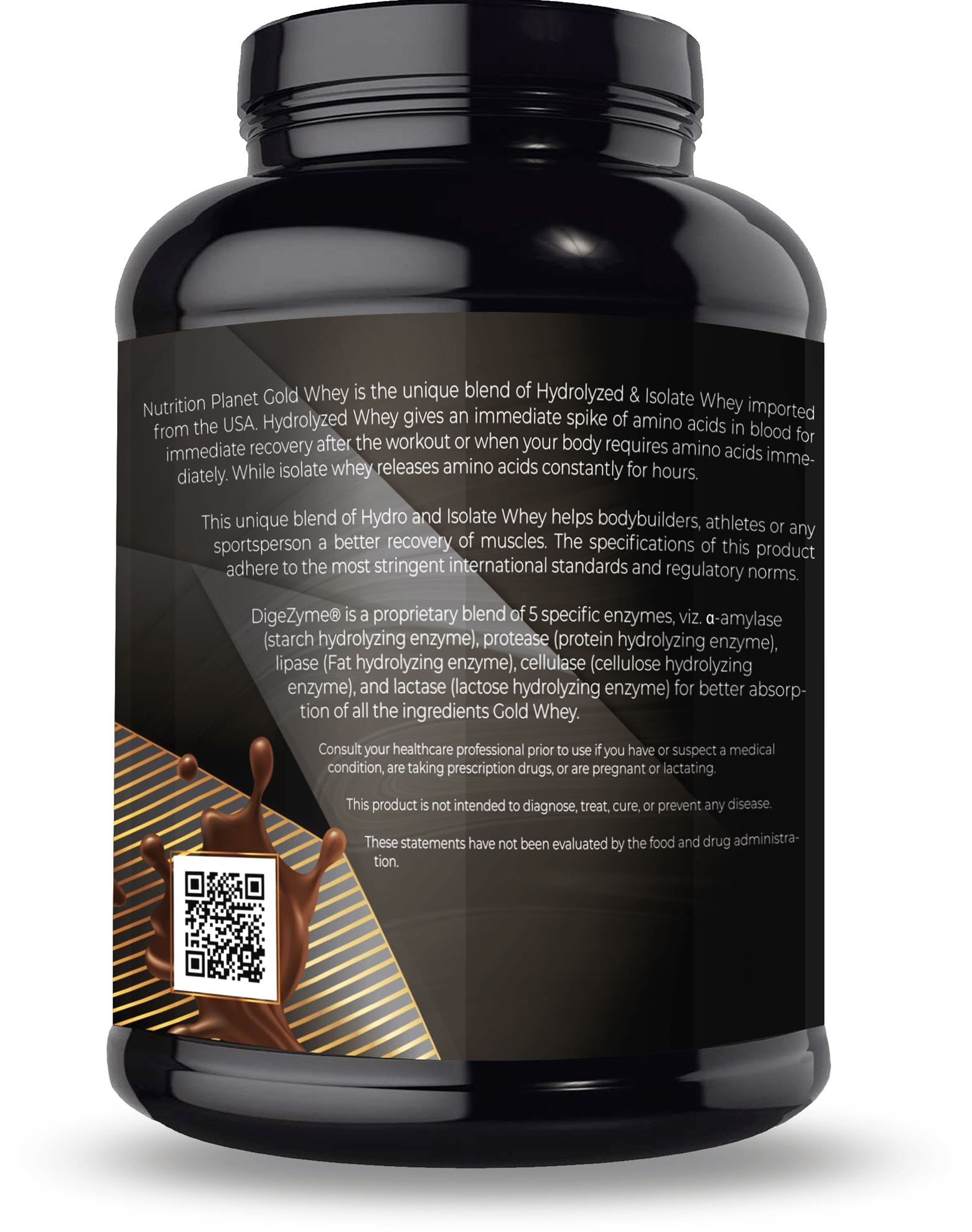 Picture of Nutrition Planet - Gold Whey With Added DigeZyme 4 lbs