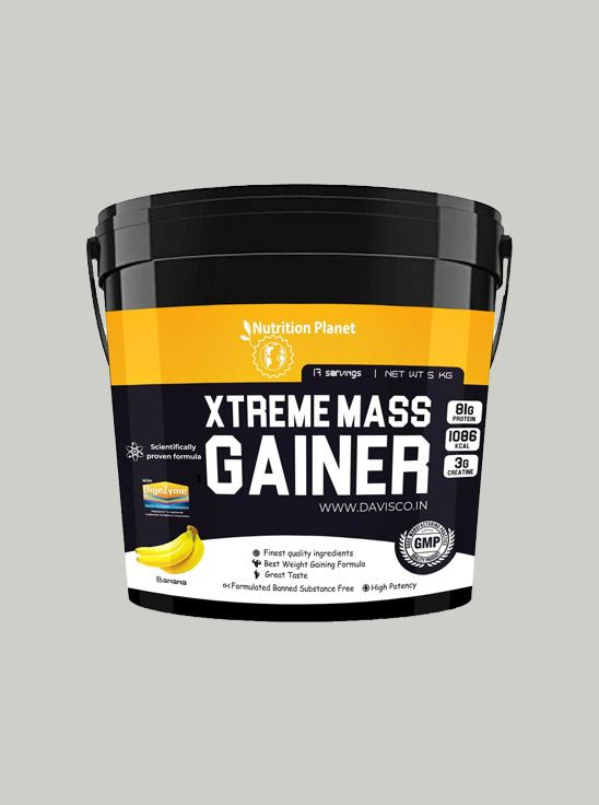 Picture of Nutrition Planet - Xtreme Mass Gainer w/DigeZyme Banana 5 kg