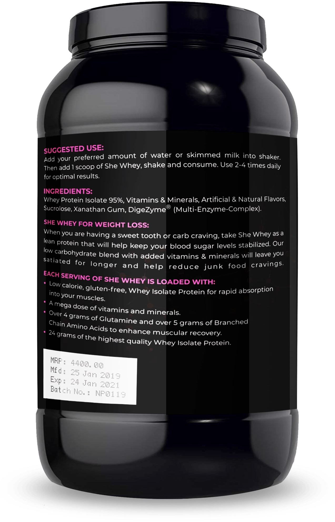 Picture of Nutrition Planet - She Whey Strawberry Smoothie 2 lbs