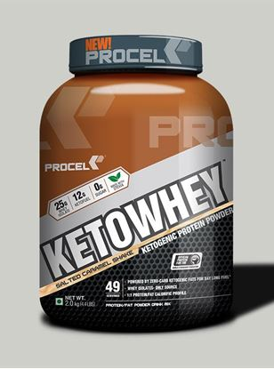 Picture of PROCEL KETOWHEY® Ketogenic Protein Powder with Ketofuel® 2kg Salted Caramel