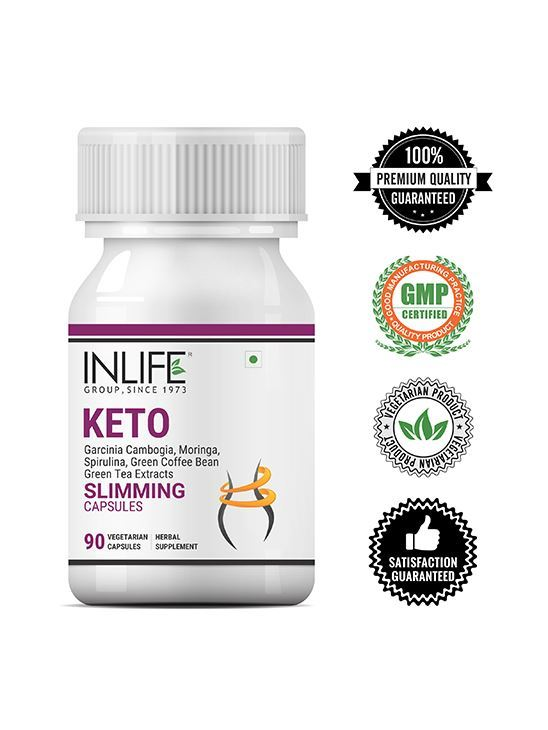 Picture of INLIFE Keto Slimming Capsules Garcinia Cambogia Green Coffee Bean Green Tea Spirulina Moringa Extract Men Women Supplement – 90 Vegetarian Capsules
