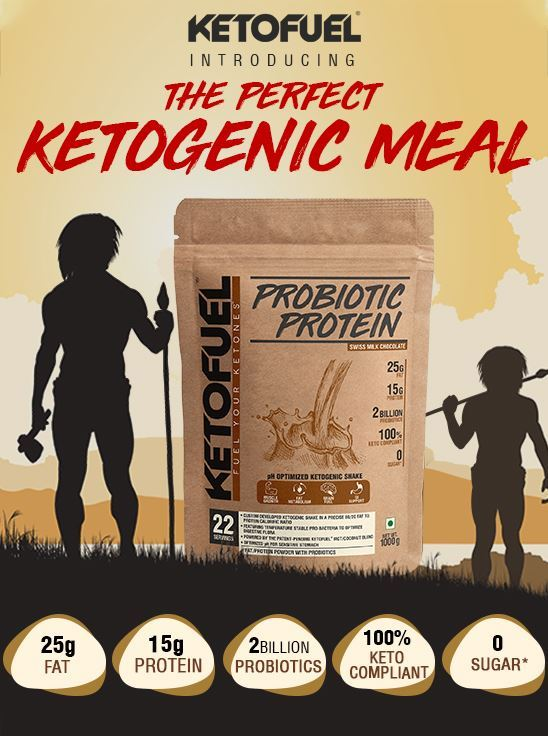 Picture of KETOFUEL® PROBIOTIC PROTEIN 1kg (Milk Chocolate) w/Free Shaker