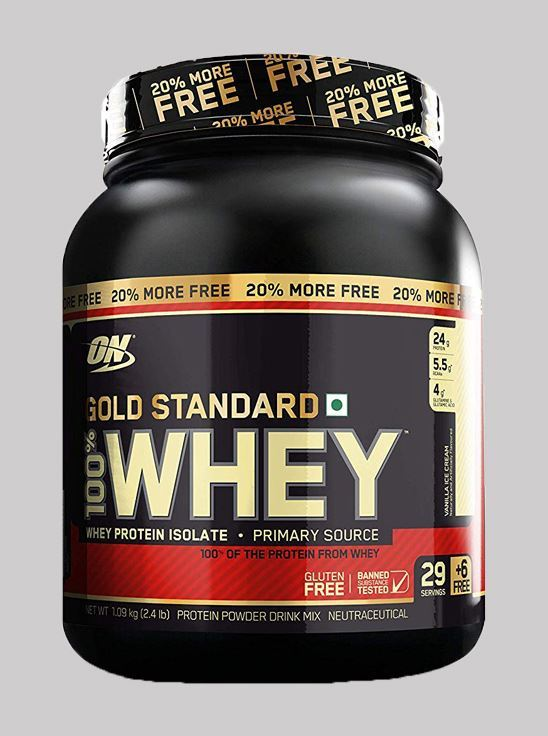Picture of ON 100% Whey Gold Standard 2.4 lbs Bonus Pack 20% Extra (Vanilla Ice Cream)