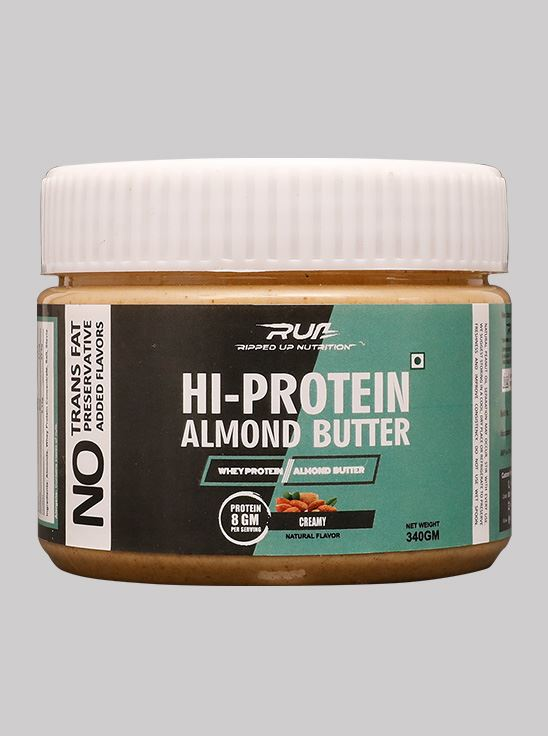 Picture of Ripped Up Nutrition Hi-Protein Almond Butter Creamy 340g