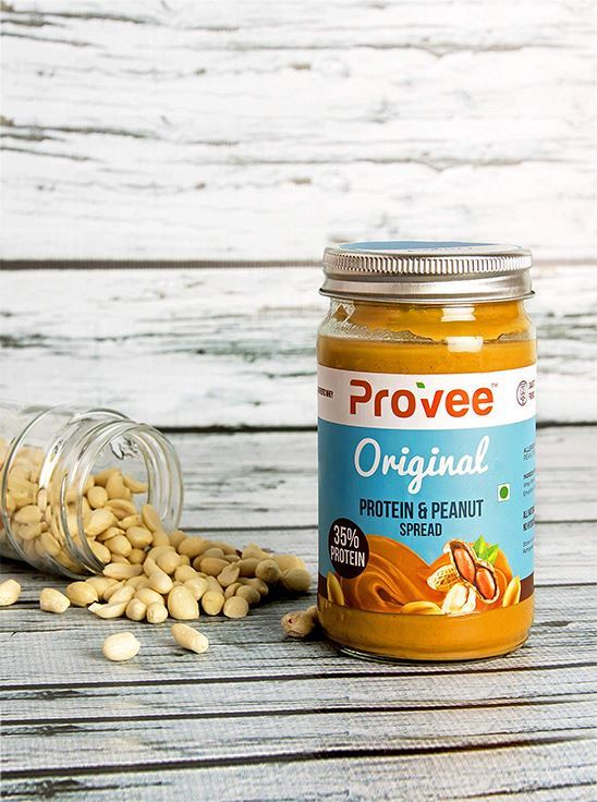 Picture of Provee High-Protein Natural Original Peanut Butter Spread Unsweetened 425g - Pack of 2