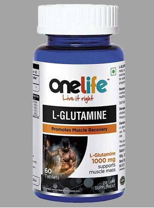 Picture of Onelife L-Glutamine Promotes Muscle Recovery 60 Tablets