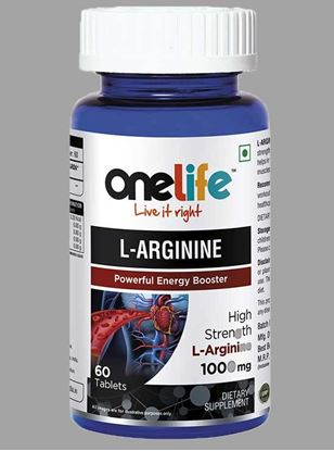 Picture of Onelife L-ARGININE Powerfull Energy Booster 60 Tablets