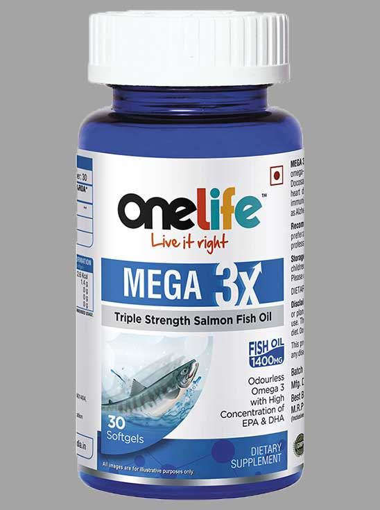 Picture of Onelife MEGA 3X Triple Strength Salmon Odorless Fish Oil 30 Softgels