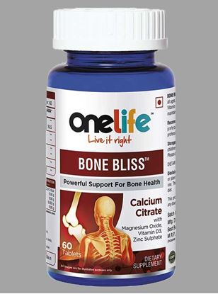 Picture of Onelife Bone Bliss for Stronger Bones 60 Tablets