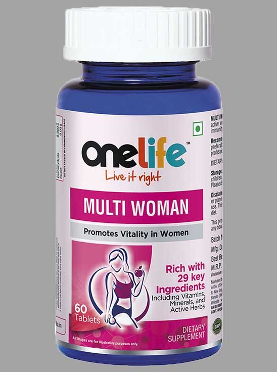 Picture of Onelife MULTI WOMAN Multivitamin For Women 60 Tablets