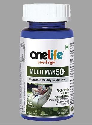 Picture of Onelife MULTIMAN 50+ Multivitamins For 50+ Men 60 Tablets