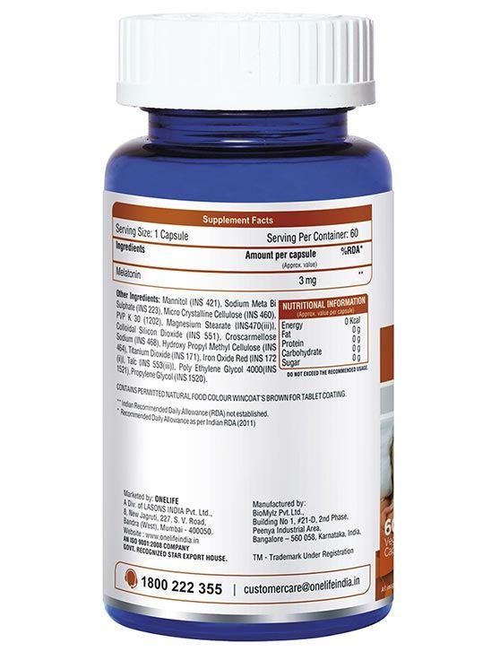 Picture of Onelife Sleep Tight Natural Sleeping Aid Melatonin 3mg