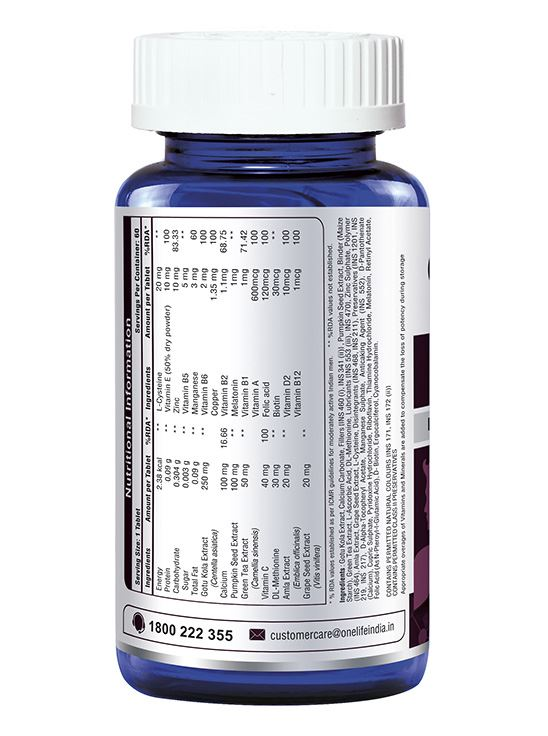 Picture of Onelife HSN Forte for Healthy Hair, Skin & Nails 60 Tablets