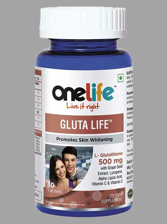 Picture of Onelife Gluta Life Promotes Skin Whitening 30 Tablets