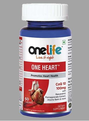 Picture of Onelife One Heat Promotes Healthy Heart 60 Tablets