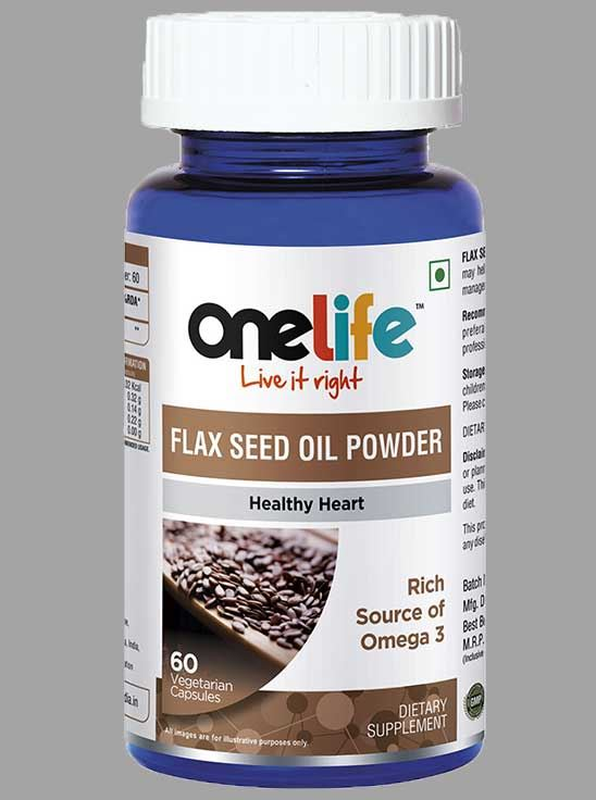Picture of Onelife Flaxseed Oil Powder Capsule for Cholesterol Management 60 Capsules