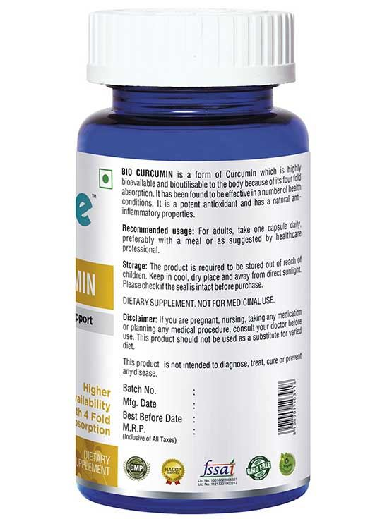 Picture of Onelife Bio Curcumin Anti Inflammatory Support 60 Capsules