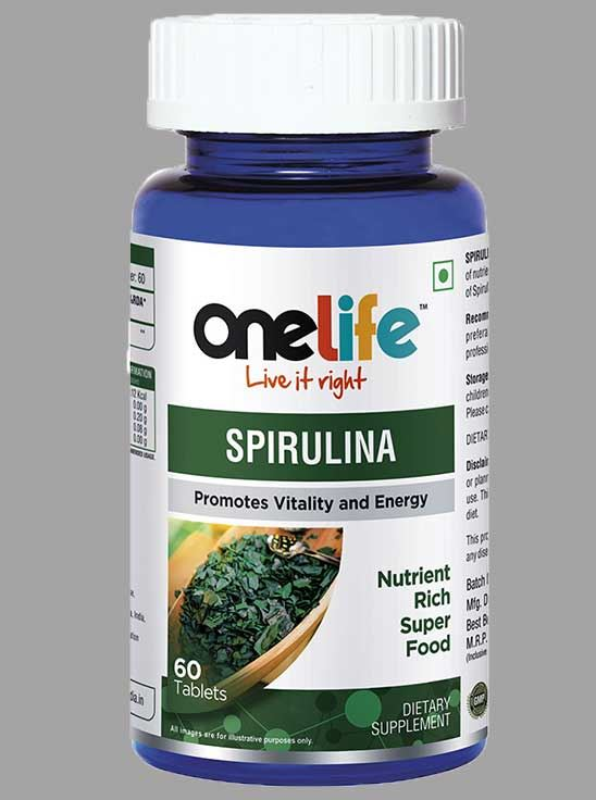 Picture of Onelife Spirulina Promotes Vitility & Stamina 60 Tablets