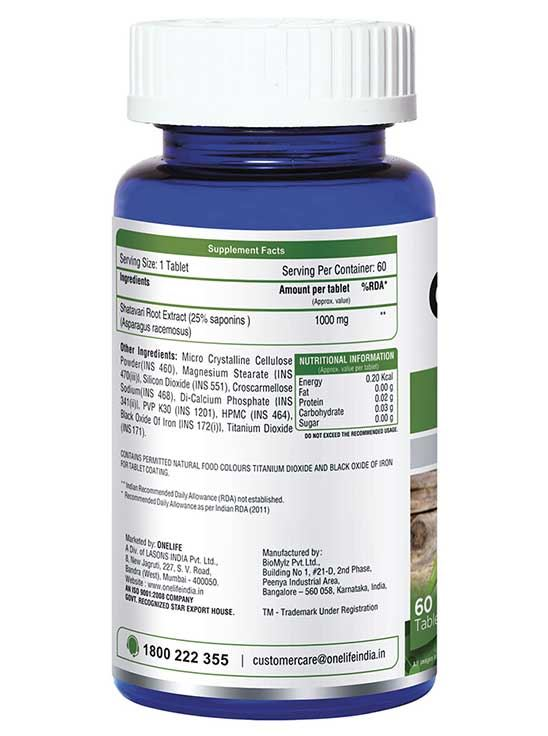 Picture of Onelife Shatavari for Overall Well-being 60 Tablets