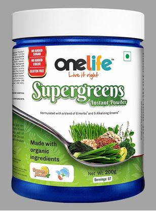 Picture of Onelife Supergreens Instant powder For daily health 200g