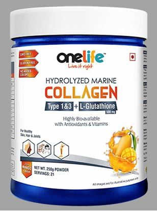 Picture of Onelife Hydrolyzed Marine Collagen for healthy Hair, Skin & Joints 250g