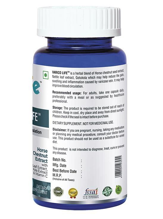 Picture of Onelife Varico Life Improves venous Circulation 60 Capsules