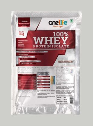 Picture of Onelife Whey Protein Raw 30 gm Pack of 10 sachets each