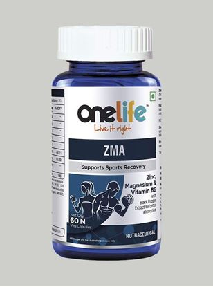 Picture of Onelife ZMA Supports Sports Recovery 60 Capsules