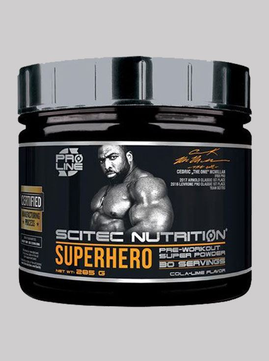 Picture of Scitec Superhero Pre-Workout Cola-Lime 285 g