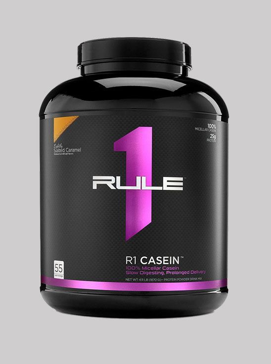 Picture of Rule1 Casein Lightly Salted Caramel 55 Servings 4 lbs