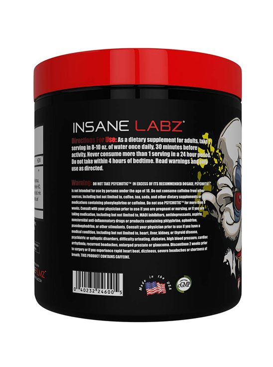 Picture of Insane Labz Psychotic Cotton Candy 35 servings 212gm (Short Shelf Life)